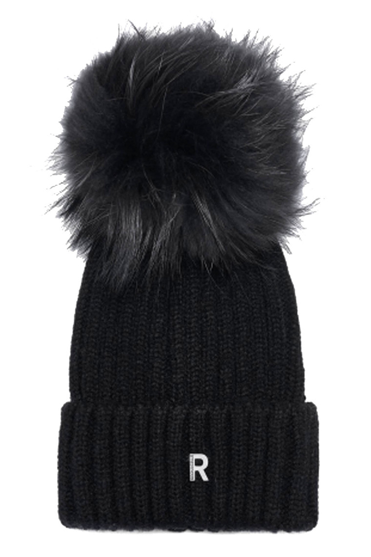 ROCK´N BLUE HAT POM POM BEANIE 21182-9451 BLACK/BLACKISH