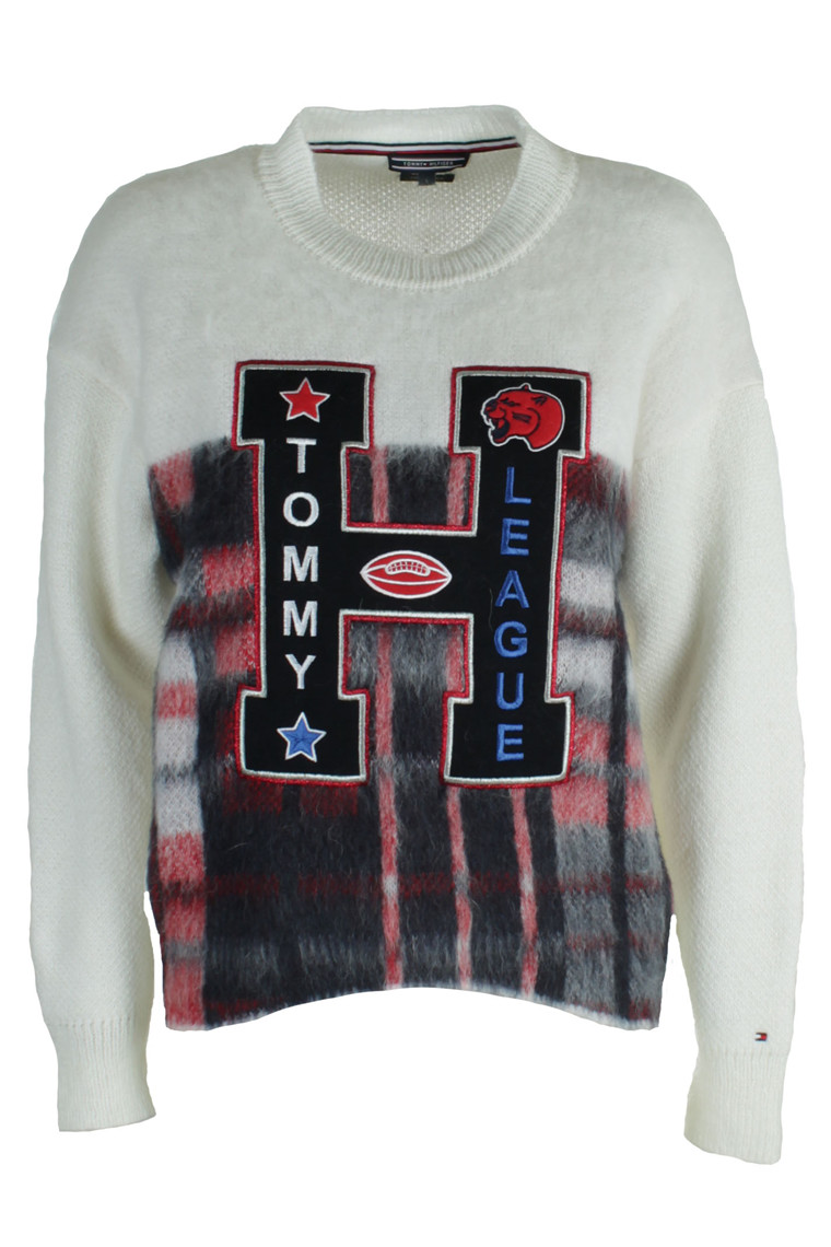 TOMMY HILFIGER ALEKZA HERITAGE C-NK 20258 OFF WHITE