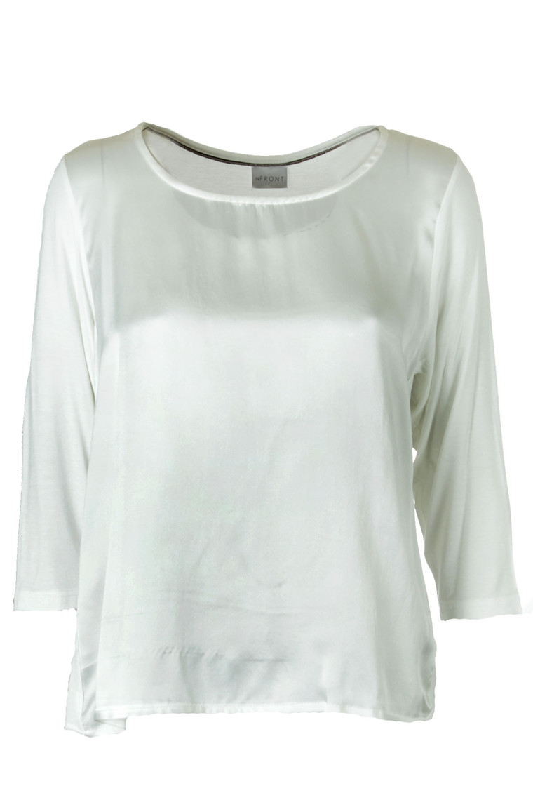 IN FRONT SILKE 3/4 BLOUSE 12377 OFF WHITE