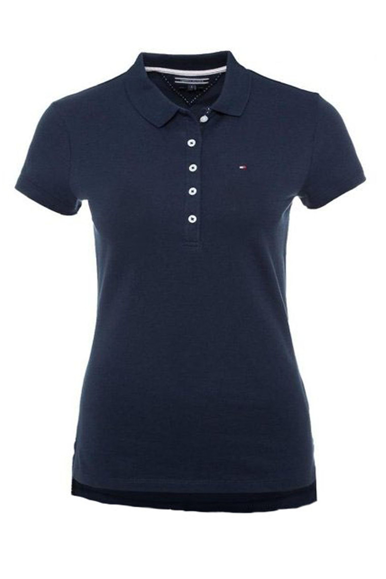 TOMMY HILFIGER NEW CHIARA STR PQ POLO SS Navy