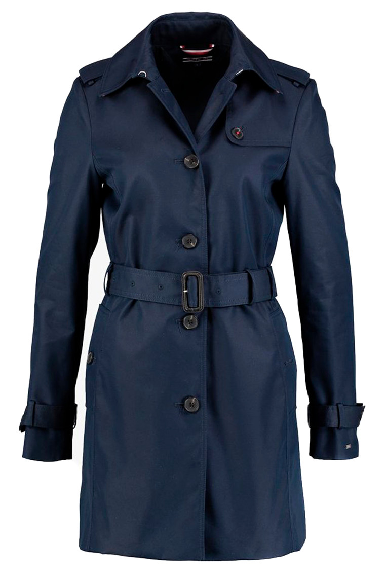 TOMMY HILFIGER HERITAGE SINGLE BREASTED TRENCH Navy