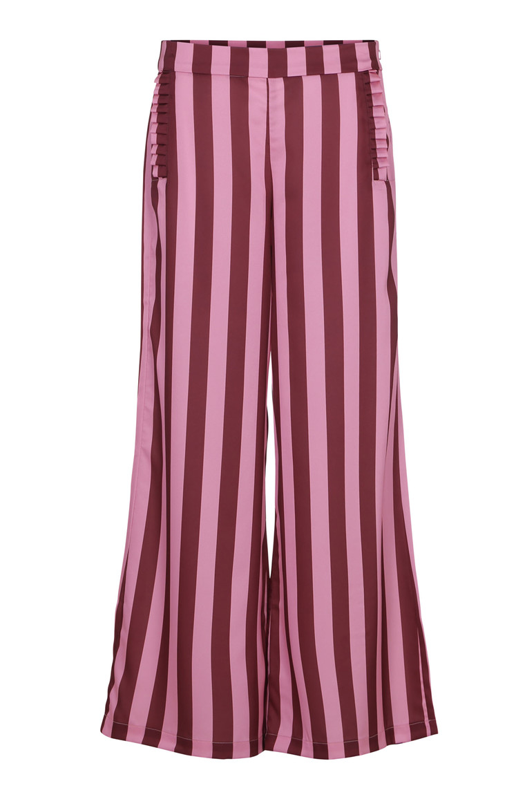 KARMAMIA BURGUNDY STRIPE PANTS STRIBET