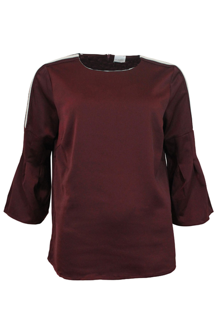 IN FRONT GABRIELLE BLOUSE 12463 CHERRY