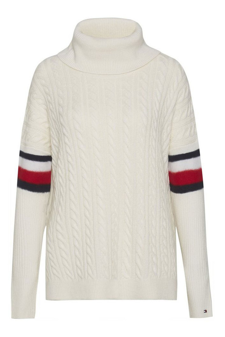 TOMMY HILFIGER AIDA CABLE CAPE 20325 OFF WHITE