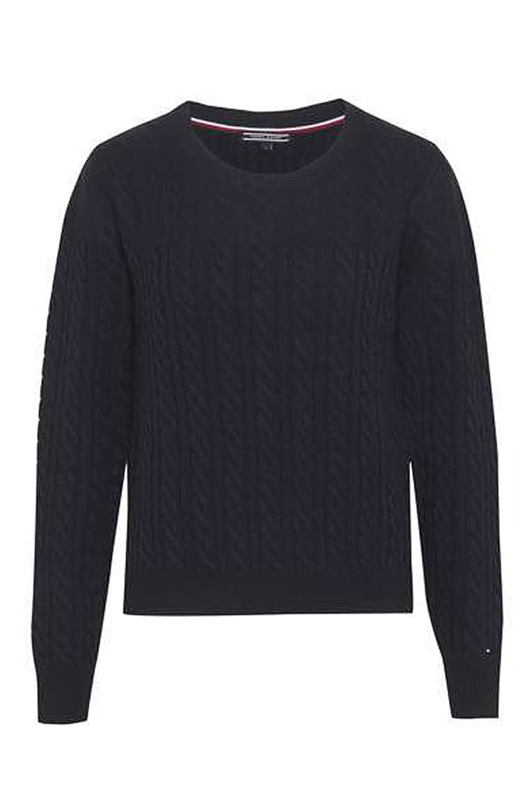 TOMMY HILFIGER AIDA CABLE C-NK 19650 Navy