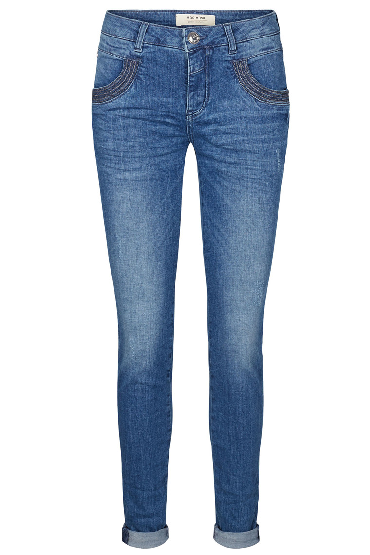 MOS MOSH NAOMI SHINE STITCH 121730 BLÅ DENIM