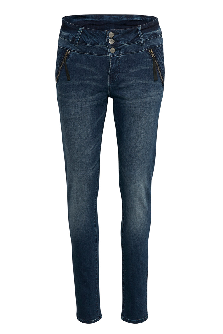 DENIM HUNTER NORMA CURVED 10701433 MØRK BLÅ DENIM