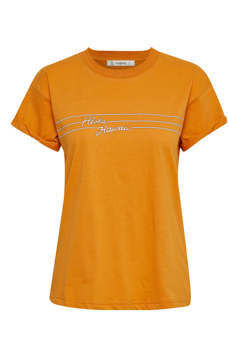 GESTUZ HAWAII TEE 10902183 ORANGE