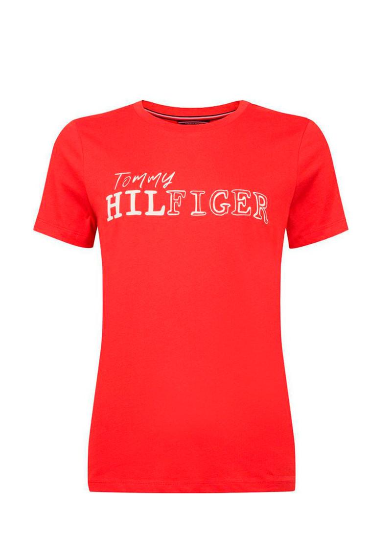 TOMMY HILFIGER EFFY C-NK TEE SS 22585 RØD