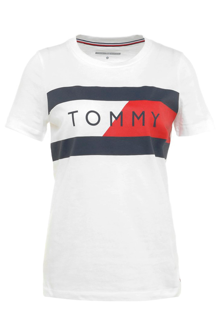 TOMMY HILFIGER TH ATH ELENOR C-NK T 22414 HVID