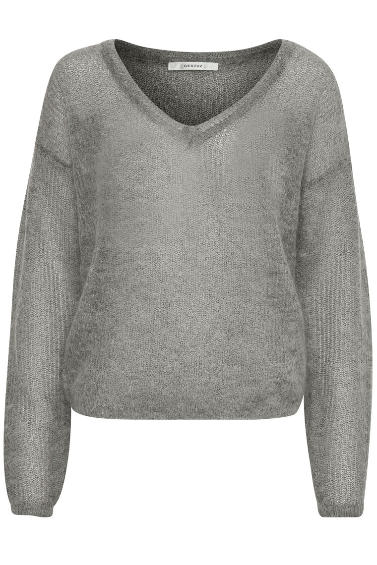 GESTUZ MOLLY V-NECK 10902330 LYSEGRÅ
