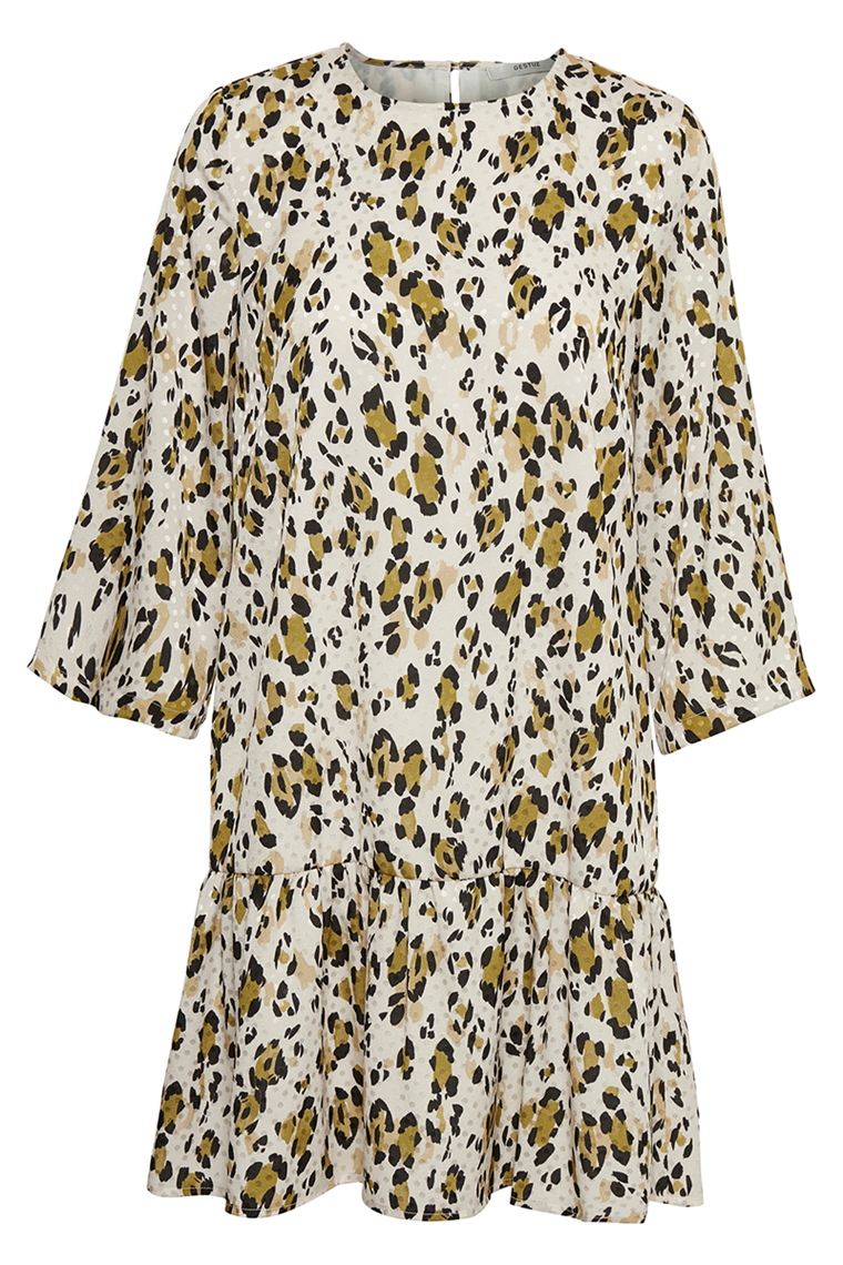 GESTUZ LEOPA LS DRESS 10902549 LEOPARD