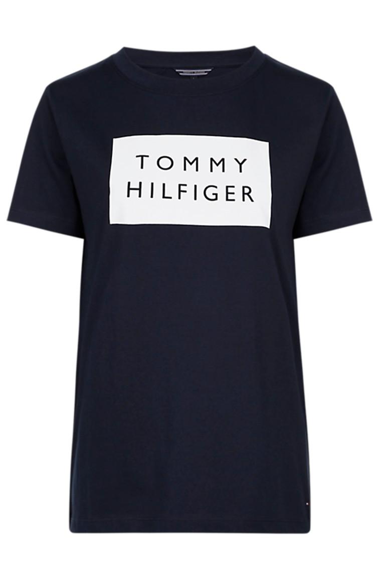 TOMMY HILFIGER LENNY C-NK TEE SS 23671 Navy