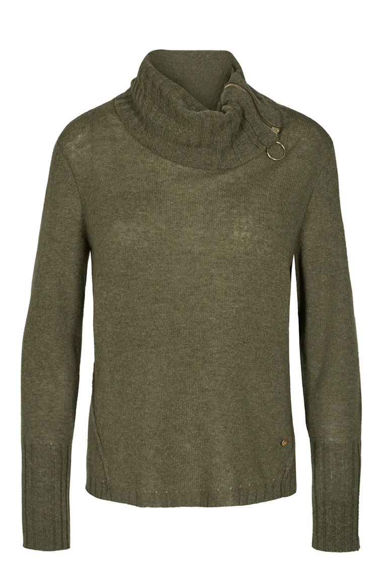 MOS MOSH ELSA ROLL NECK 123490 ARMY