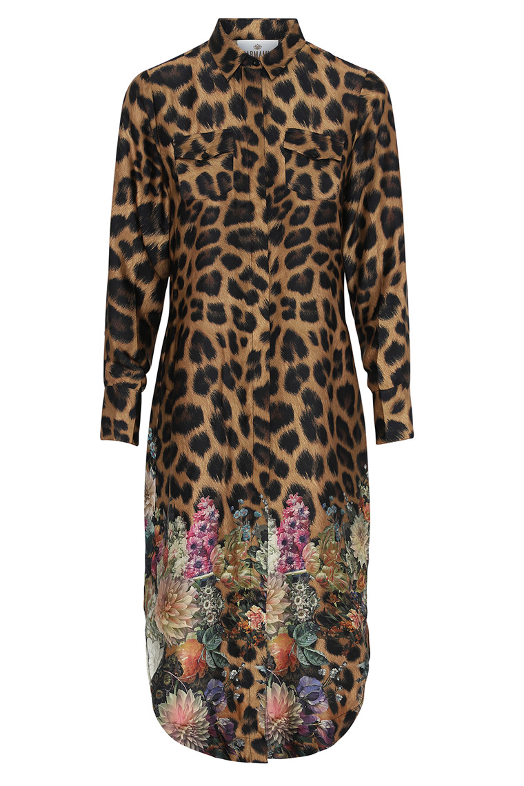KARMAMIA HARPER DRESS FLOWER LEOPARD LEO