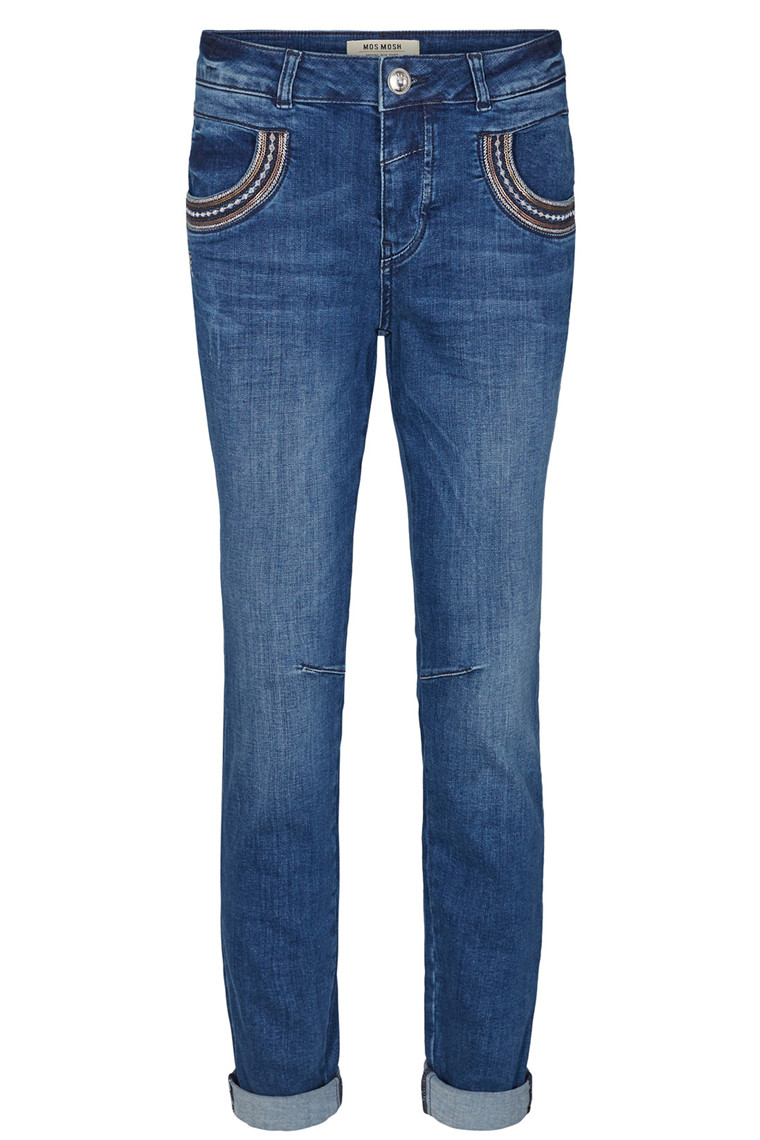 MOS MOSH NAOMI MUSCAT LONG 126591 BLÅ DENIM