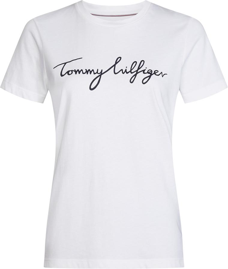 TOMMY HILFIGER HERITAGE CREW NECK GRAPHIC HVID