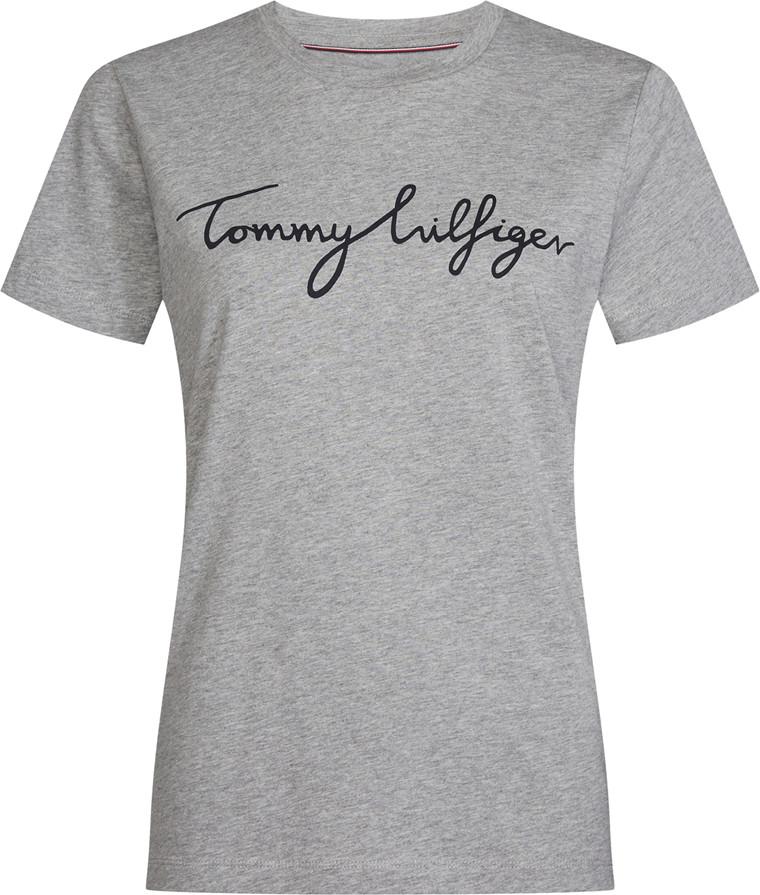 TOMMY HILFIGER HERITAGE CREW NECK GRAPHIC LT.GREY MELANGE