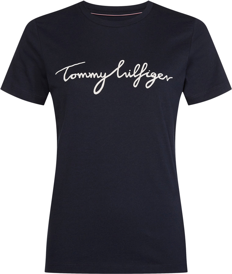 TOMMY HILFIGER HERITAGE CREW NECK GRAPHIC Navy