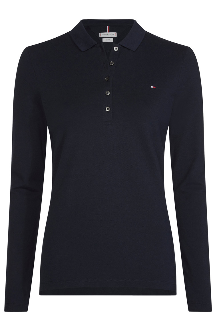 TOMMY HILFIGER HERITAGE LS SLIM POLO Navy