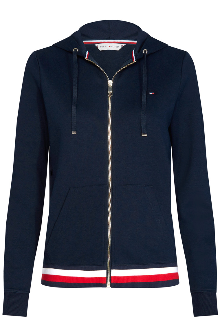 TOMMY HILFIGER HERITAGE ZIP-THROUGH HOODIE Navy