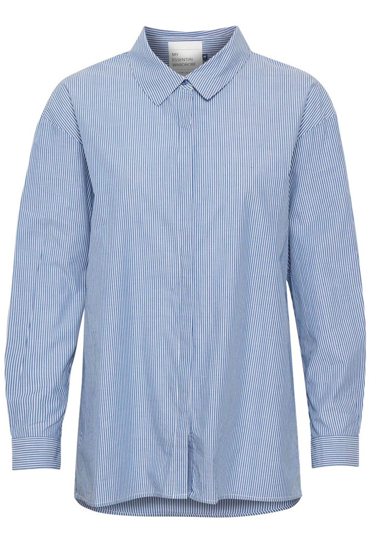 DENIM HUNTER 10702539 THE SHIRT Striped Medium Blue