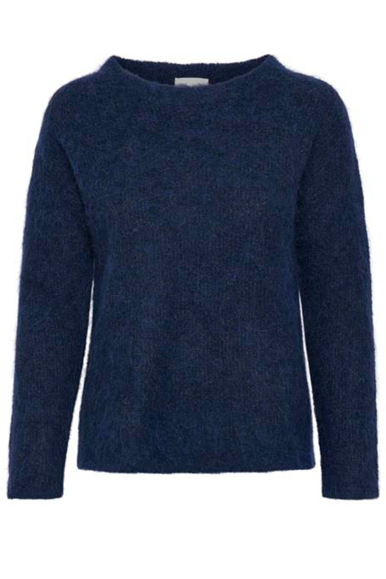 DENIM HUNTER 10702543 THE KNIT PULLOVER Medieval Blue