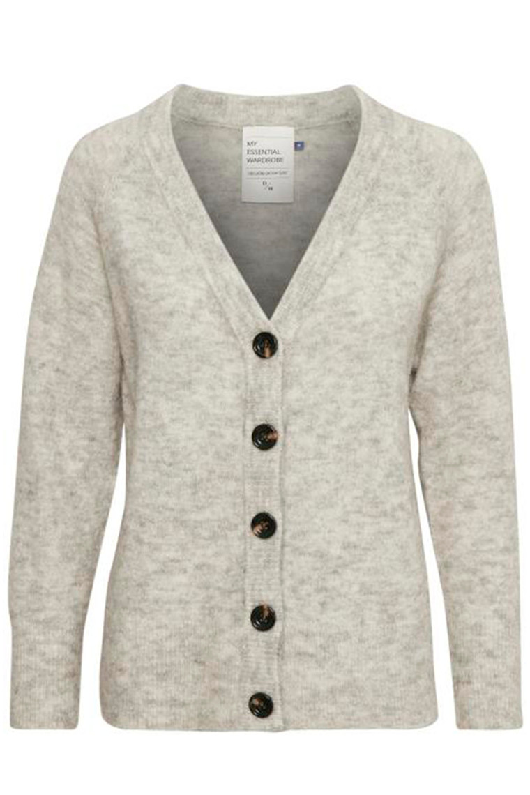 DENIM HUNTER 10702544 THE KNIT CARDIGAN Light Grey Melange