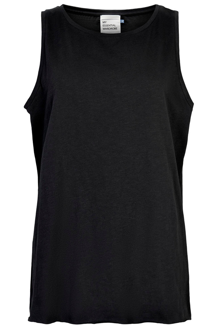 DENIM HUNTER 10702679 THE TANK Slub Yarn Jersey Black