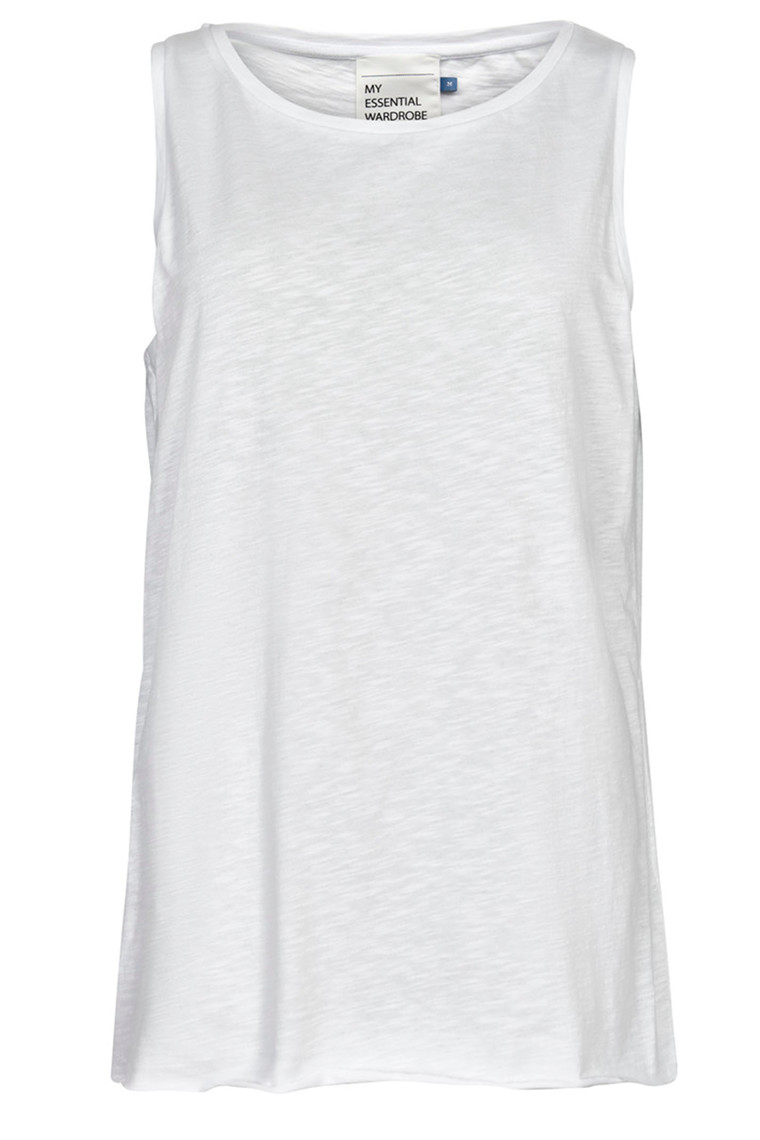 DENIM HUNTER 10702679 THE TANK Slub Yarn Jersey Optical White