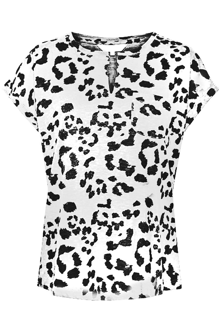 PART TWO 30304021 Leopard print, White Cap Grey