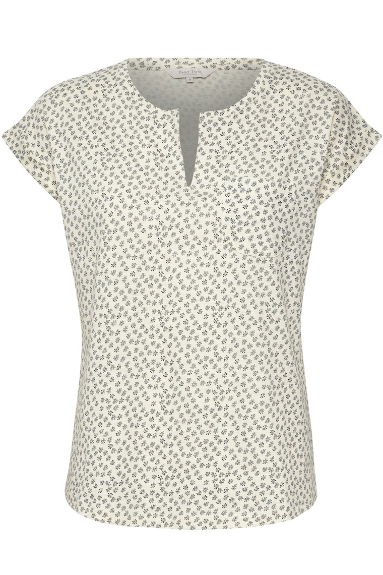 PART TWO KEDITA TS 30304021 Mini Leaf Print, White.
