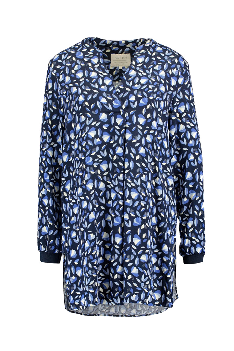 PART TWO TROYA 30304922 Leaf Print, Navy.