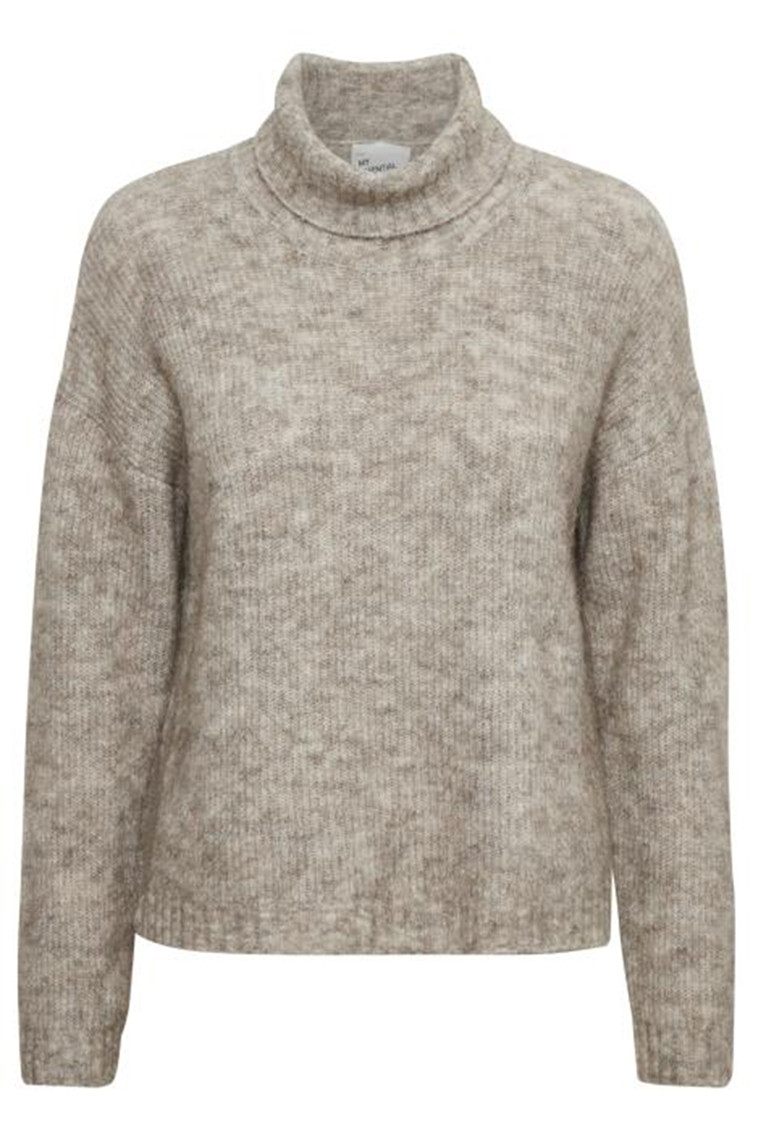 DENIM HUNTER 10702756 THE KNIT ROLLNECK BEIGE MELANGE