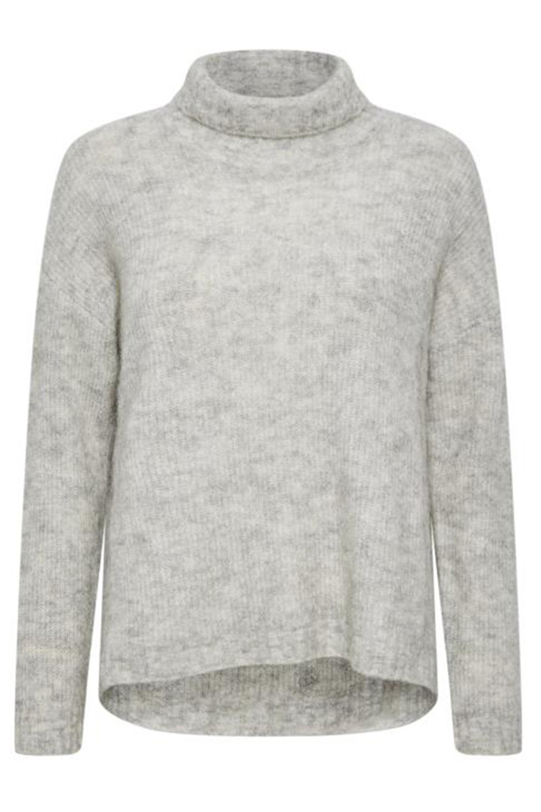 DENIM HUNTER 10702756 THE KNIT ROLLNECK Light Grey Melange