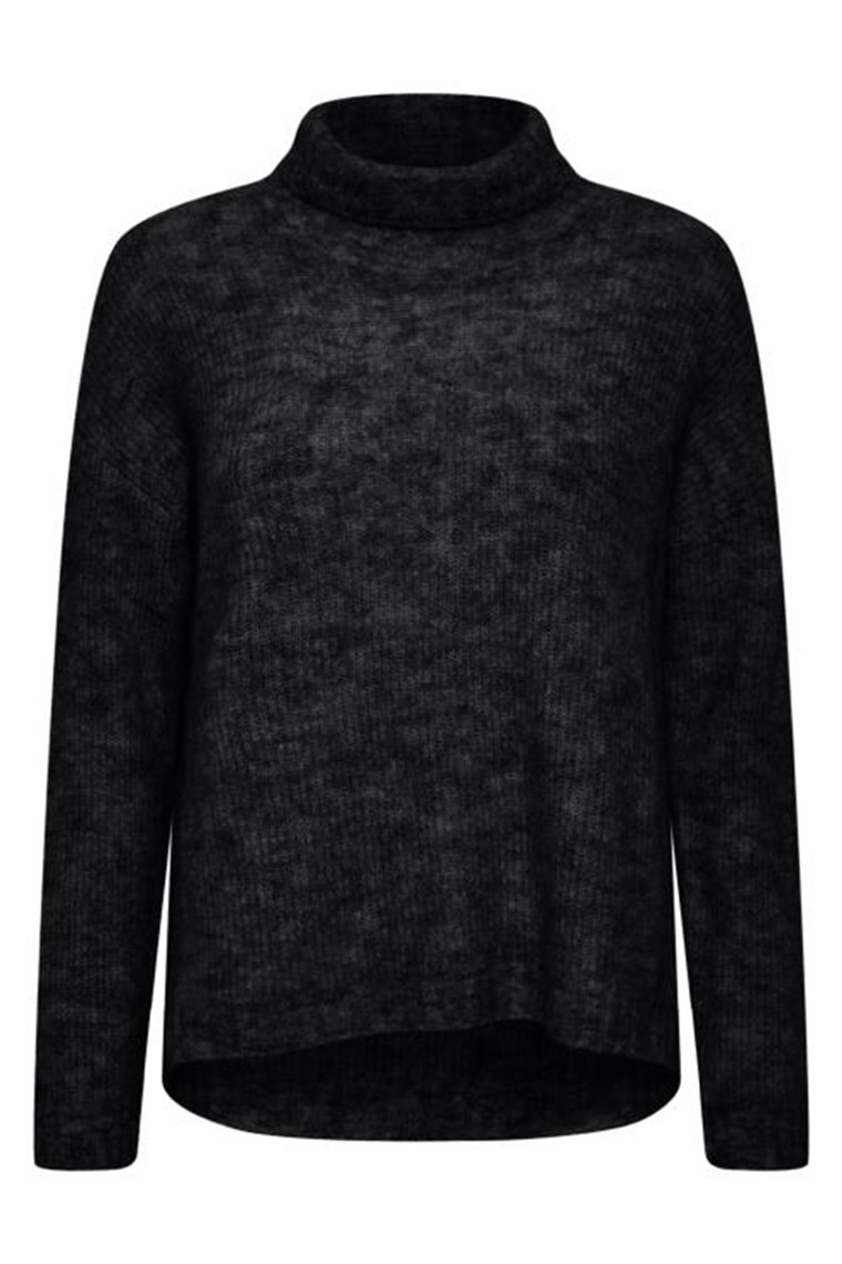 DENIM HUNTER 10702756 THE KNIT ROLLNECK Black
