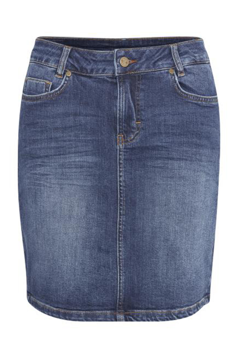 DENIM HUNTER 10702764 THE DENIM SKIRT Medium Blue Wash