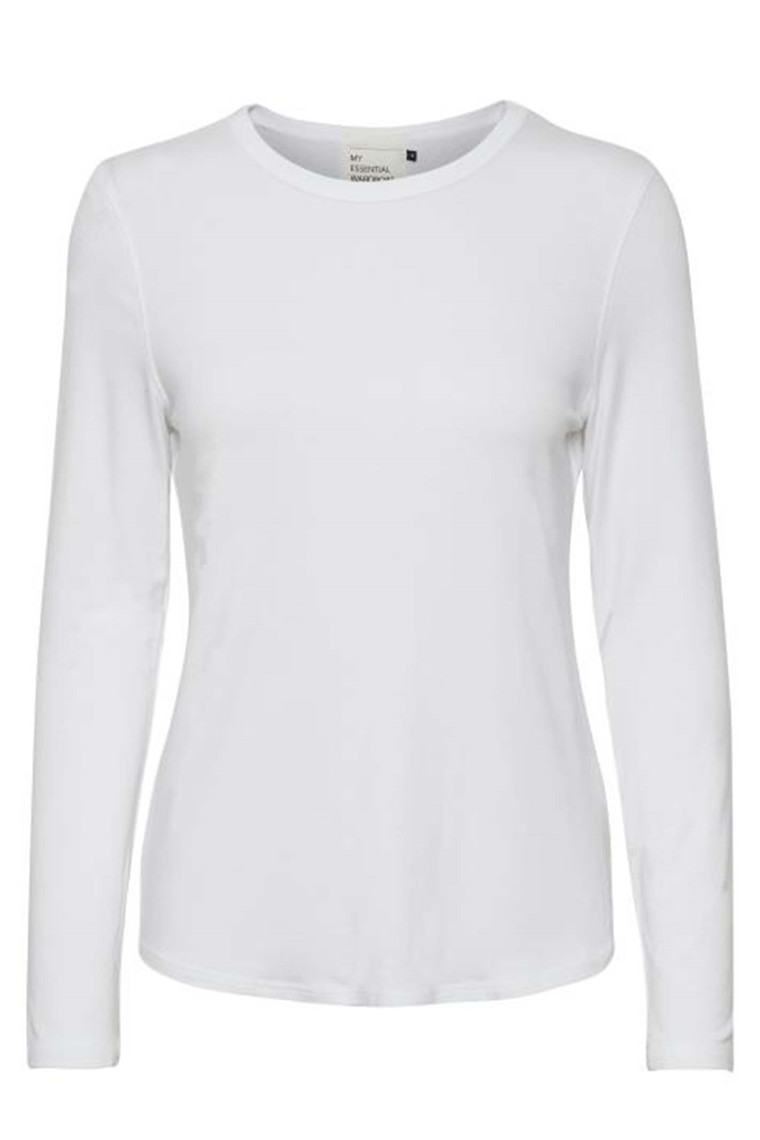 DENIM HUNTER 10702825 THE MODAL BLOUSE Optical White