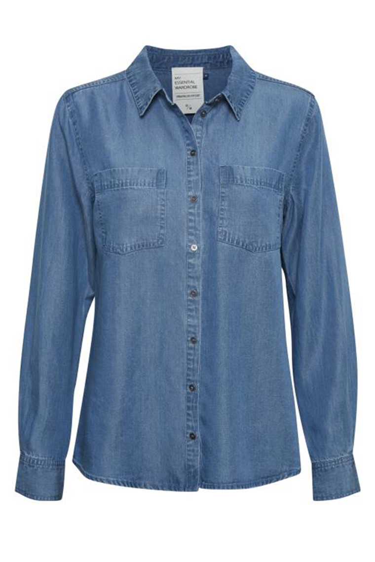 DENIM HUNTER 10702836 THE DENIM SHIRT Light Denim Blue