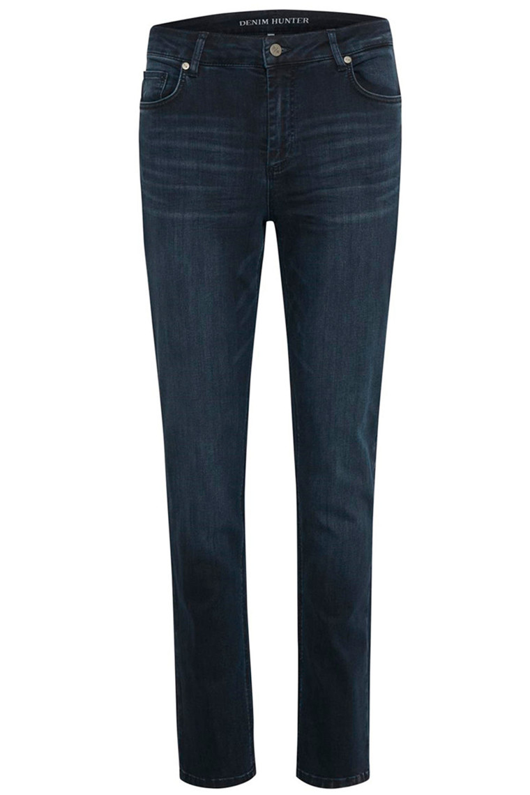 DENIM HUNTER 10702935 THE CELINA HIGH STRAIGHT CUSTOM Dark blue Wash