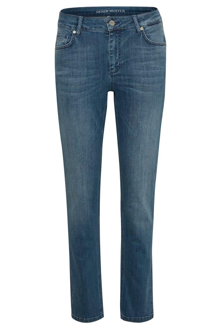 DENIM HUNTER 10702935 THE CELINA HIGH STRAIGHT CUSTOM Medium Blue Vintage Wash