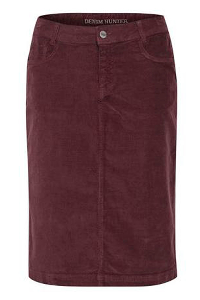 DENIM HUNTER 10702473 Molly Skirt Vineyard Wine