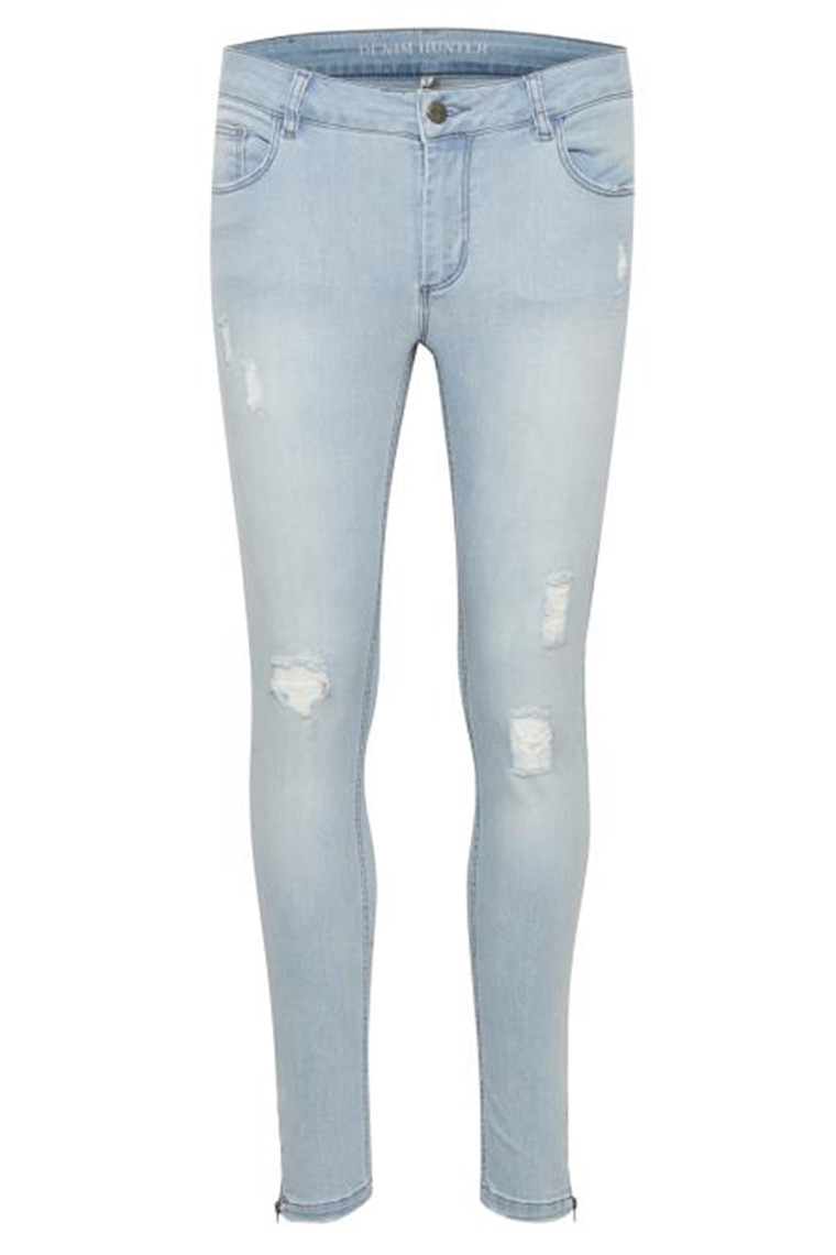 DENIM HUNTER CELINA ZIP TORN 10701894 Light Blue Wash