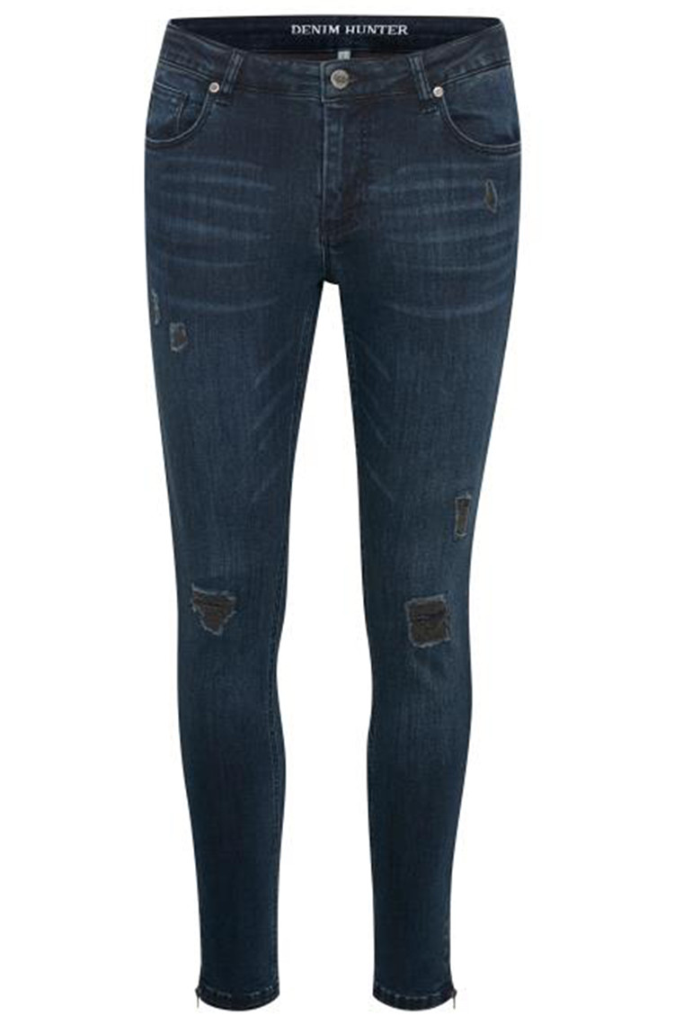 DENIM HUNTER CELINA ZIP TORN 10701894 Dark Denim