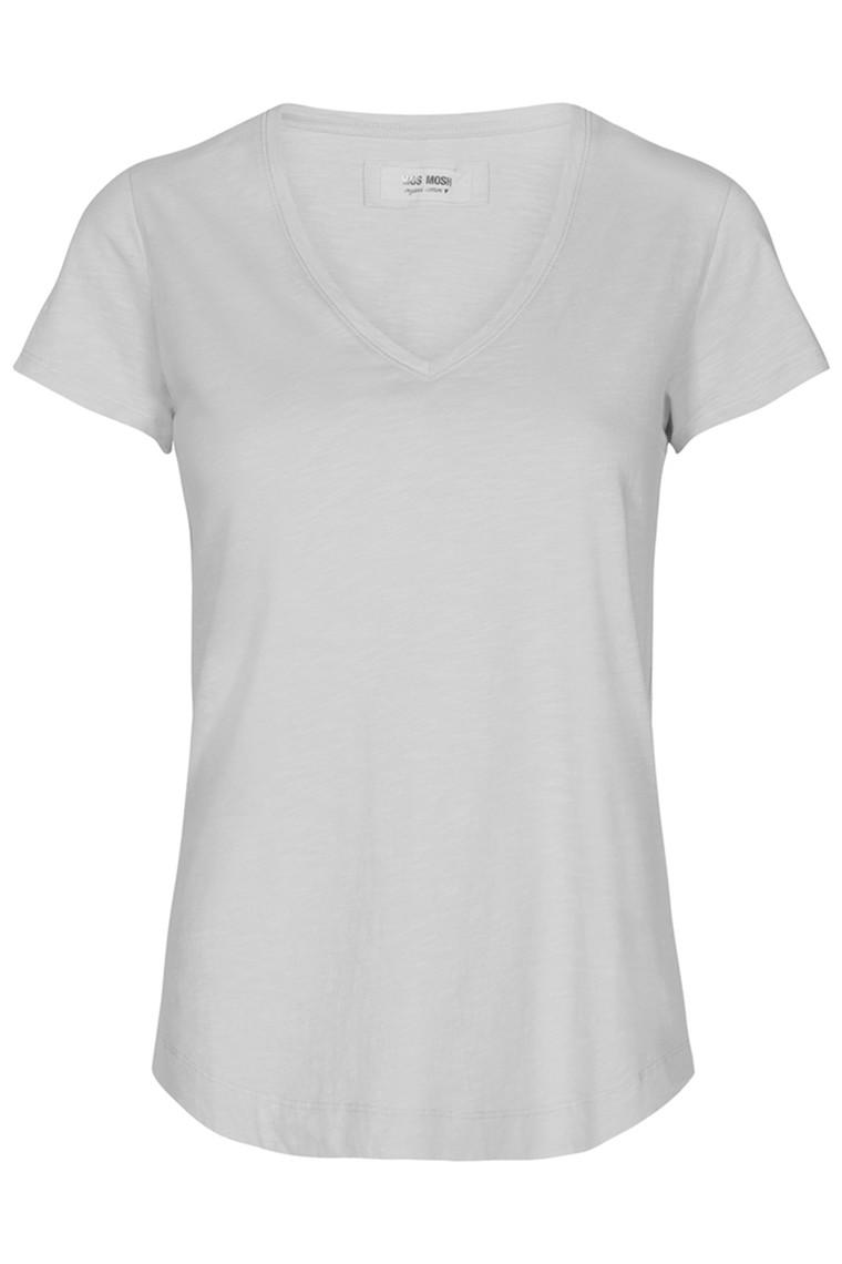 MOS MOSH Arden Organic V-neck Tee 131870 White