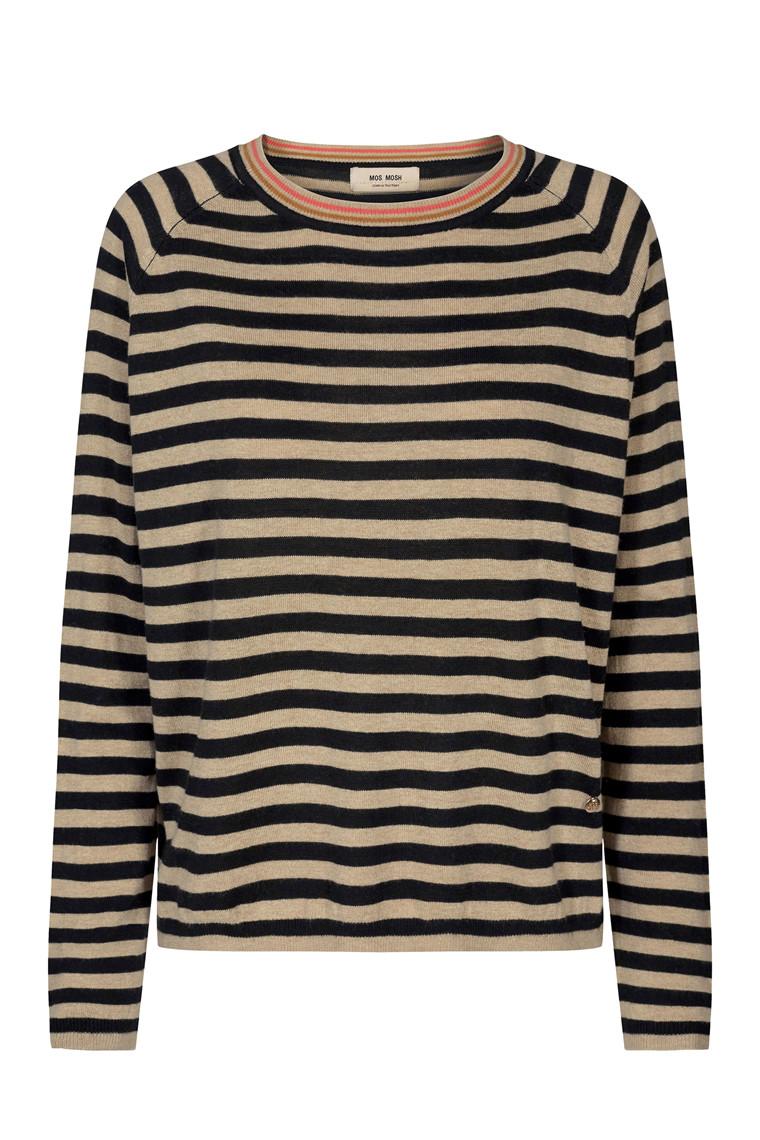 MOS MOSH Wyn Stripe Knit 131080 Black