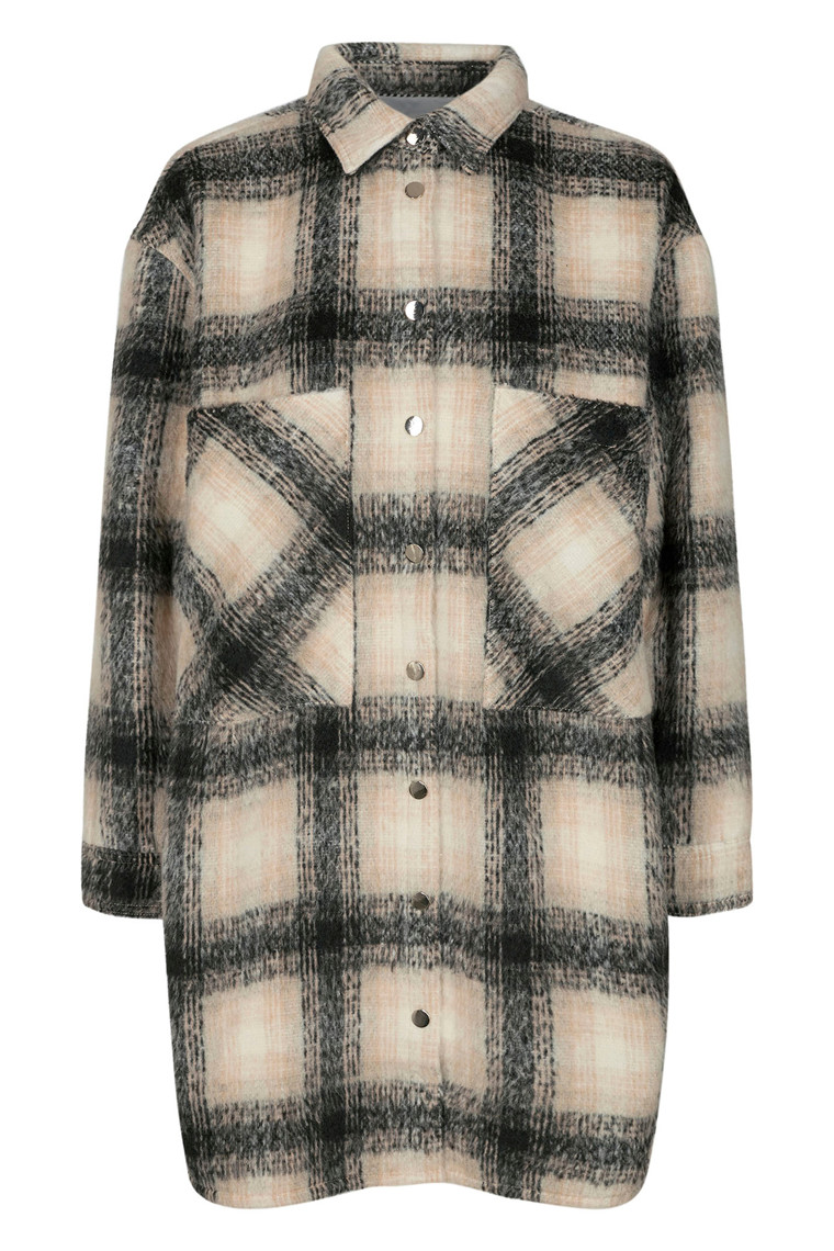 CO'COUTURE KELLY WOOL CHECK 95345 BONE