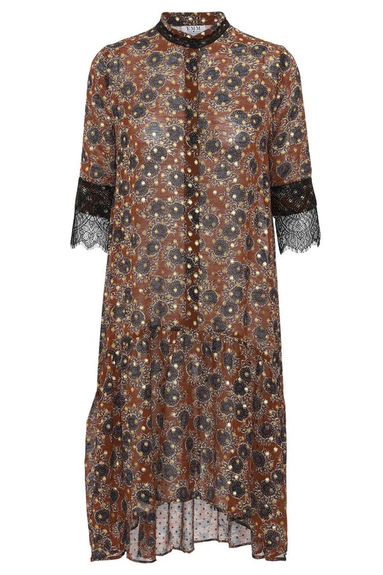 EMM COPENHAGEN STELLA DRESS BROWN