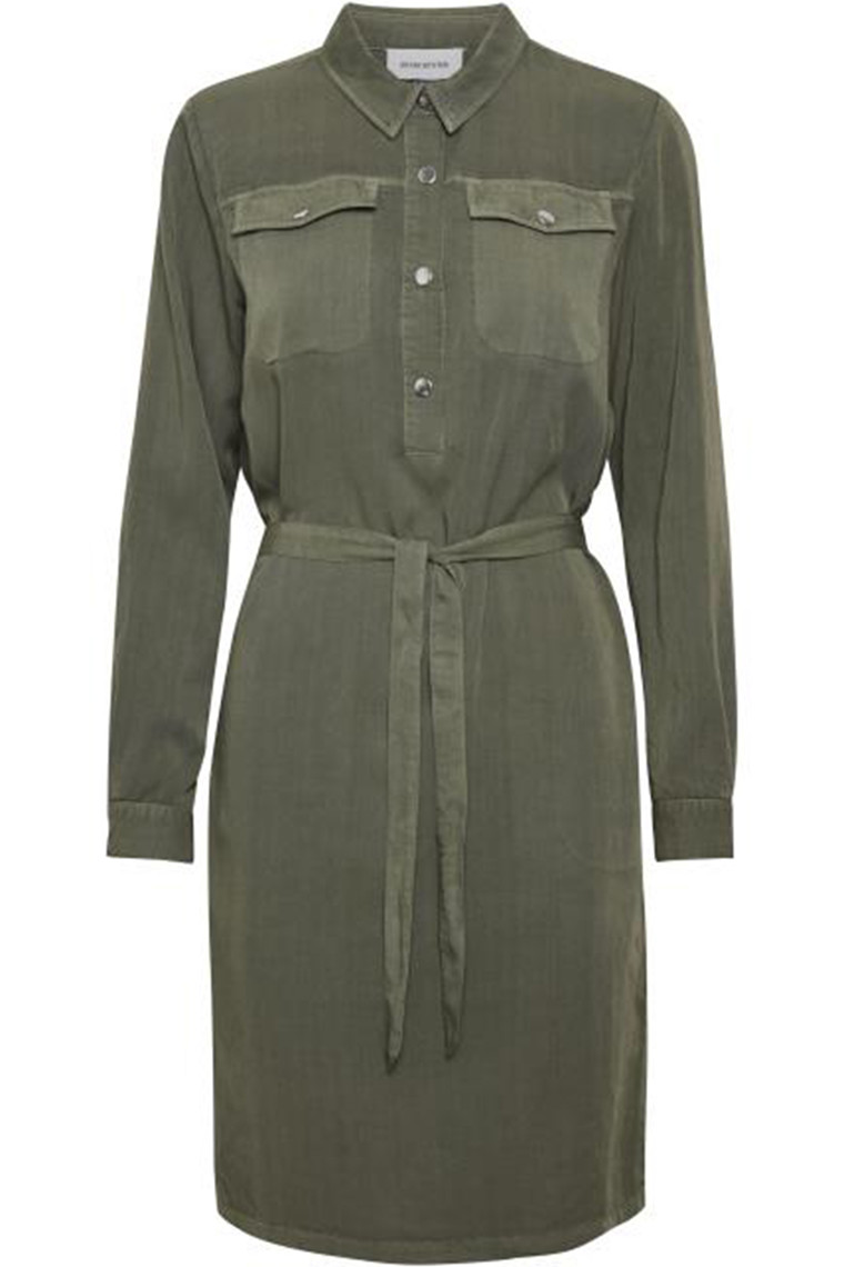DENIM HUNTER 10702666 FIONA DRESS Dusty Olive