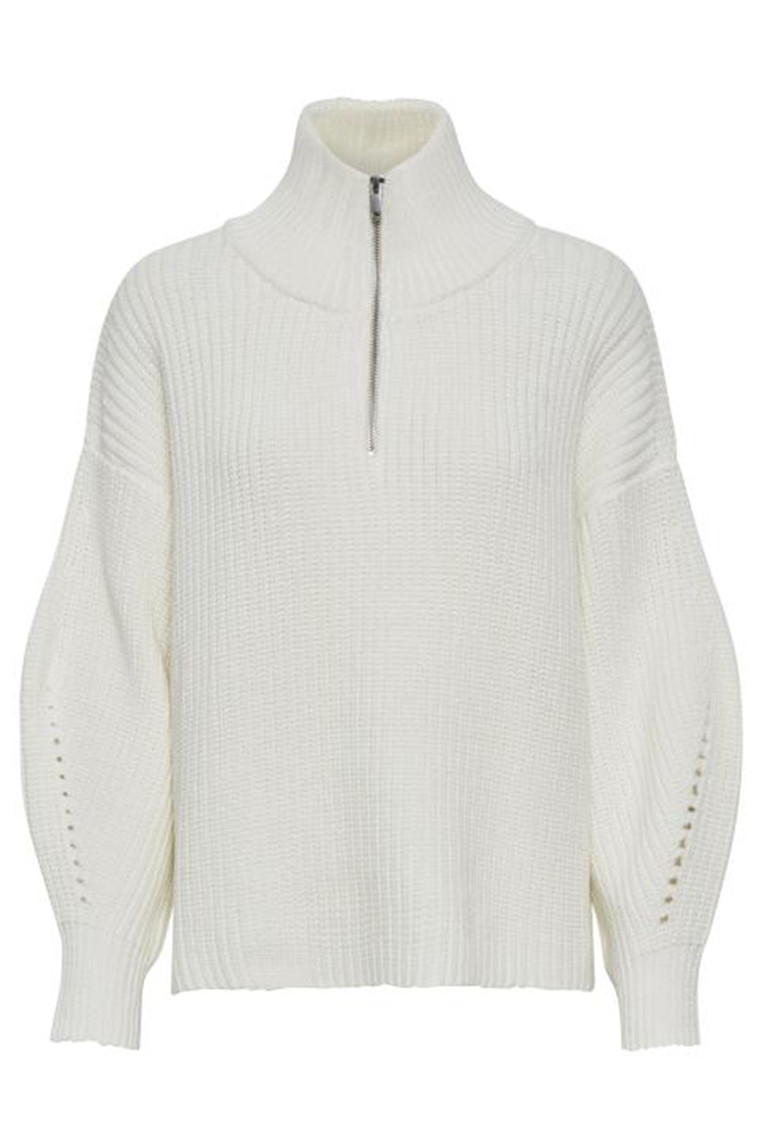 DENIM HUNTER 10702682 Clarisse Zip Pullover Whisper White